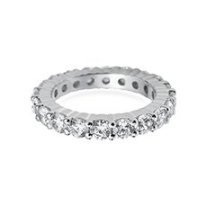 3.5mm Claw Set Eternity platinum ring