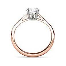 Justine rose gold diamond engagement ring