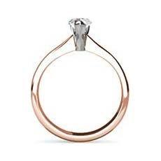Nisha rose gold diamond engagement ring