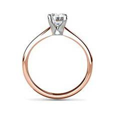 Teresa rose gold diamond ring