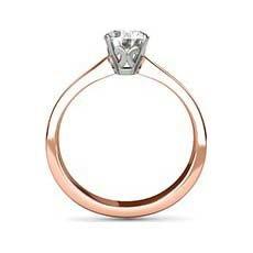 Heidi rose gold engagement ring
