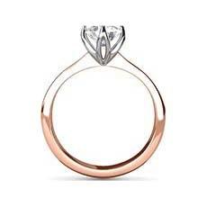 Mercedes rose gold engagement ring