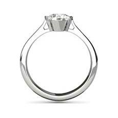 Melanie platinum diamond ring