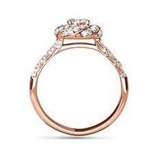 Iona rose gold vintage engagement ring