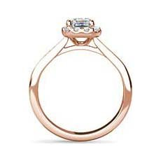Cameron vintage rose gold engagement ring