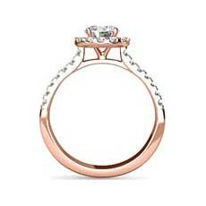Marilyn vintage rose gold engagement ring