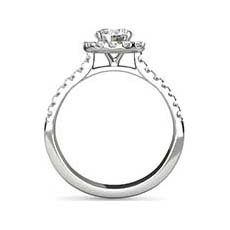 Marilyn platinum halo engagement ring
