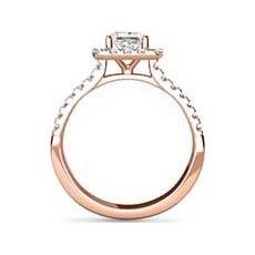 Gina vintage rose gold engagement ring