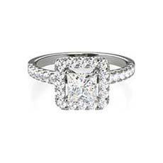 Gina platinum halo engagement ring