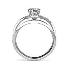 Anita platinum halo engagement ring