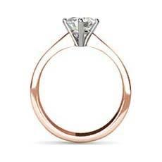 Keira rose gold engagement ring
