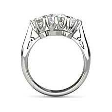 Carissa three stone diamond ring