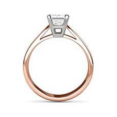 Georgina rose gold diamond ring