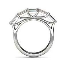 Autumn emerald cut platinum engagement ring
