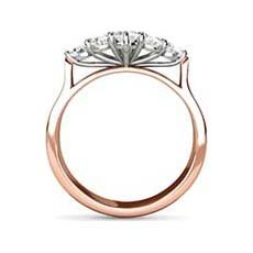 Star vintage rose gold engagement ring