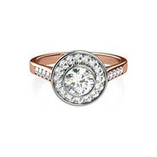 Nadia vintage rose gold engagement ring