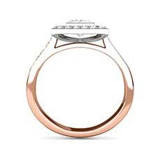Cosima vintage rose gold engagement ring