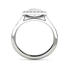 Cosima platinum halo engagement ring