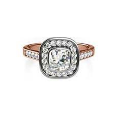 Ariel rose gold vintage engagement ring
