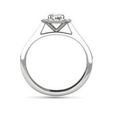 Paige flower engagement ring