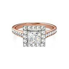 Cressida rose gold vintage engagement ring