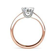 Latoya rose gold solitaire engagement ring