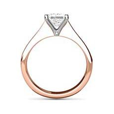 Hermione rose gold diamond ring