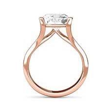 Willow rose gold diamond engagement ring
