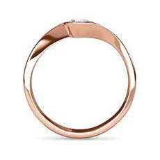 Felicity rose gold diamond ring