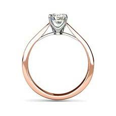 Aspen rose gold diamond ring