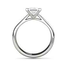 India princess cut platinum engagement ring