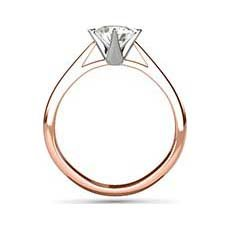 Lily rose gold engagement ring