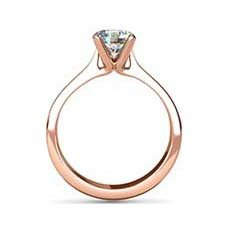 Francesca rose gold engagement ring