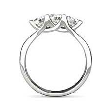Samara 3 stone diamond ring
