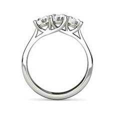 Meredith 3 stone diamond ring