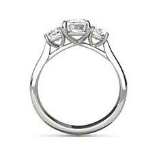 Delia three stone diamond ring