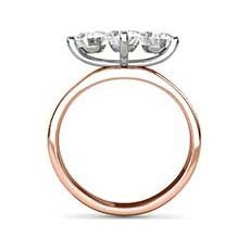 Angelina vintage rose gold engagement ring