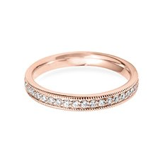 3.0mm Vintage Court rose gold wedding ring