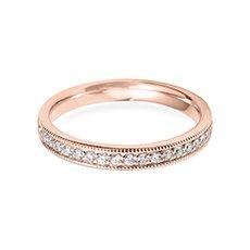 3.0mm Vintage Court rose gold wedding ring
