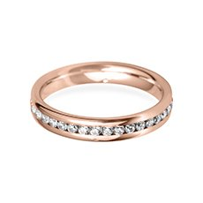 3.5mm Channel Set rose gold wedding ring