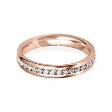 3.5mm Channel Set rose gold wedding ring
