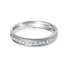 4.0mm Vintage Court platinum diamond eternity ring