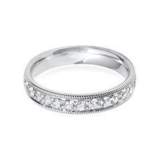4.0mm Vintage Court diamond wedding ring