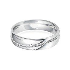 5.0mm Channel Wave diamond wedding ring