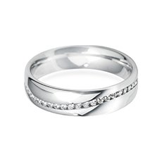 5.0mm Channel Wave wedding ring