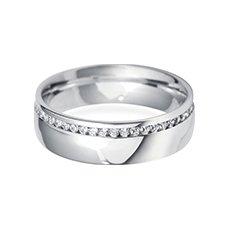 6.0mm Offset  diamond wedding ring