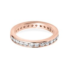 3.0mm Classic Eternity rose gold wedding ring