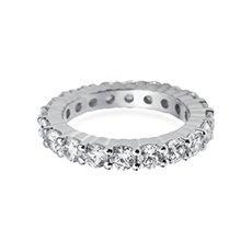 3.5mm Claw Set Eternity platinum ring