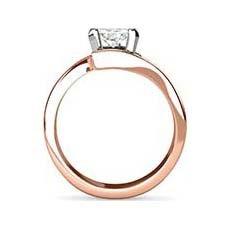 Divya rose and white gold engagement ring
