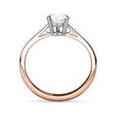 Justine rose gold diamond engagement ring